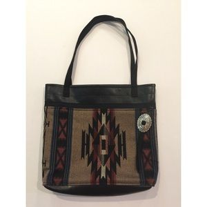 Vintage 80's/90's western tote purse w/ concho